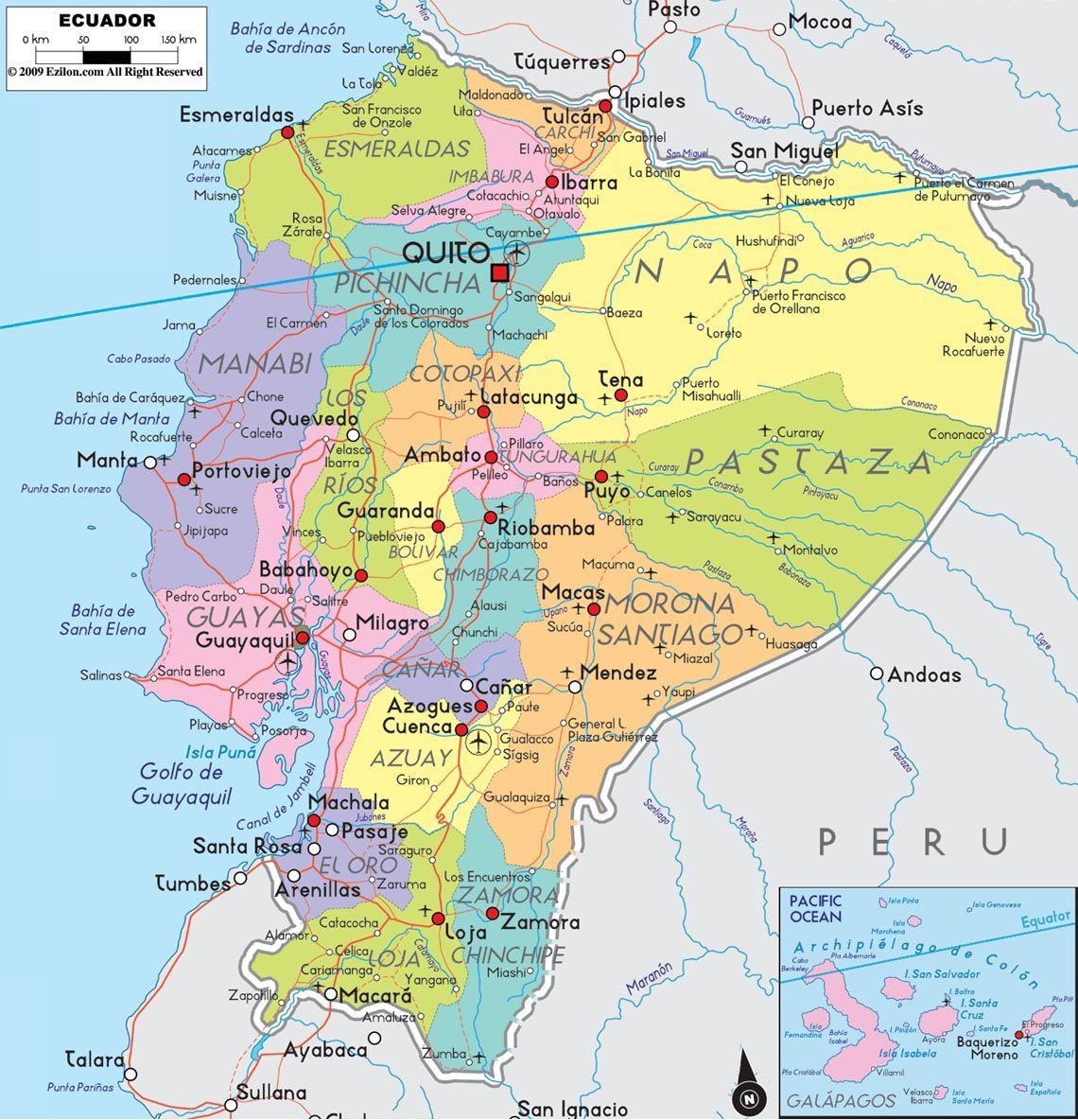 Ecuador Ecuador Map South America Map Political Map