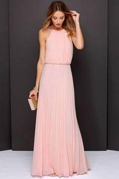 Vestido longo simples para festa de casamento