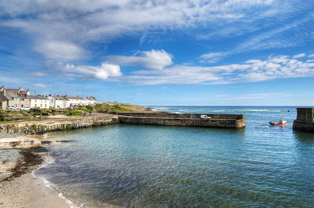 Craster Harbour in Northumberland, home of some excellent