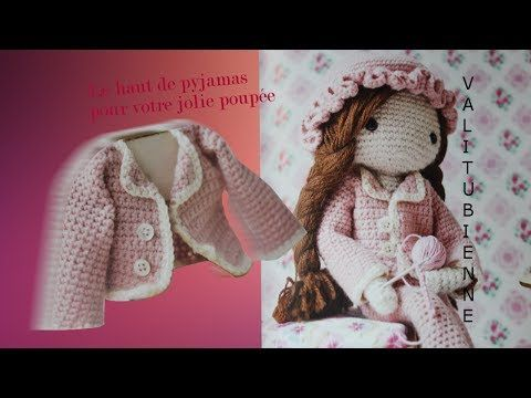 ma poup e au crochet veste de pyjamas tuto 4 crochet poupee pyjamas cr ations loisirs. Black Bedroom Furniture Sets. Home Design Ideas