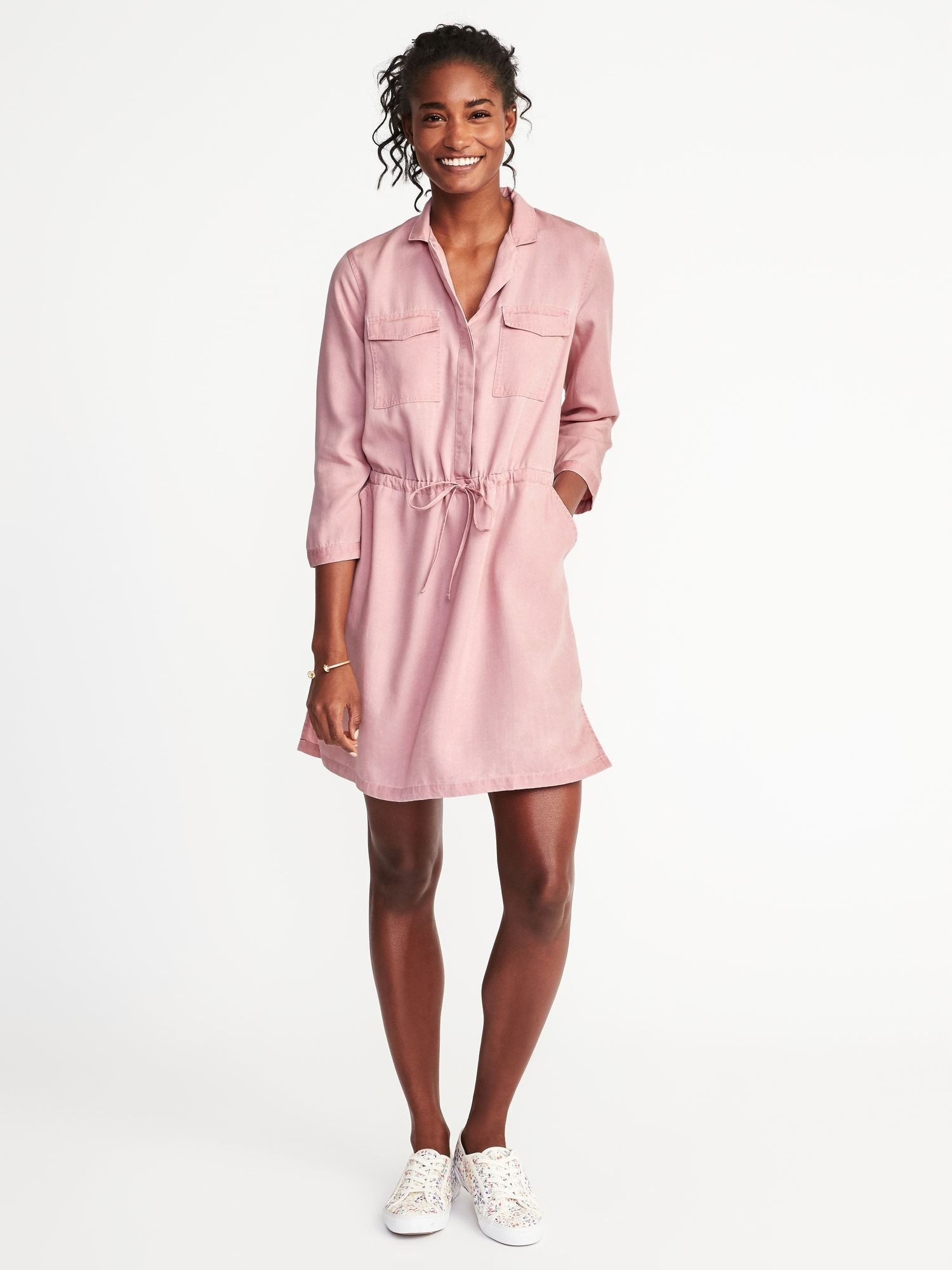 03f26d75005a Tencel® Utility Shirt Dress for Women |old-navy | Life & Style ...