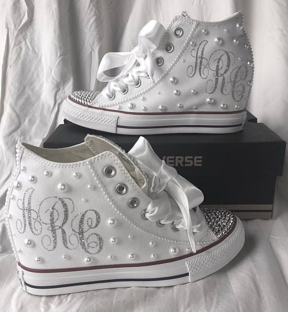 Simply GORGEOUS!! Customized Hidden Wedge Wedding Converse