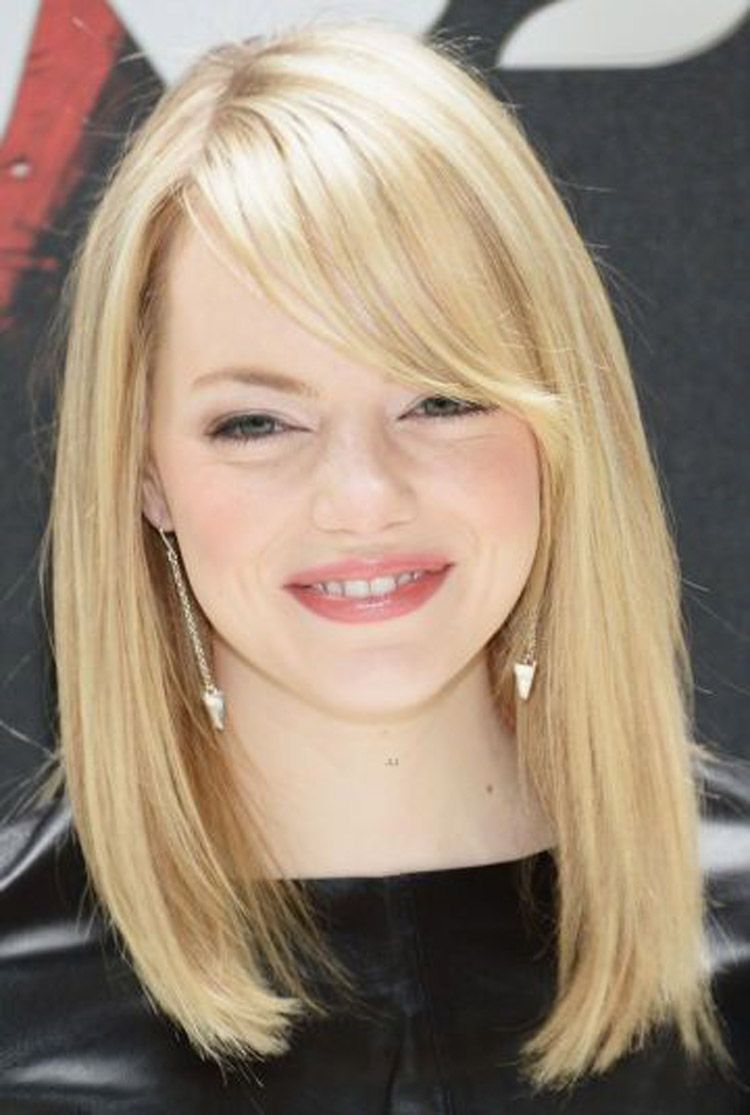 Medium Length Hairstyles for Thin Hair and Round Face   2014 ...   Round face haircuts, Short ...