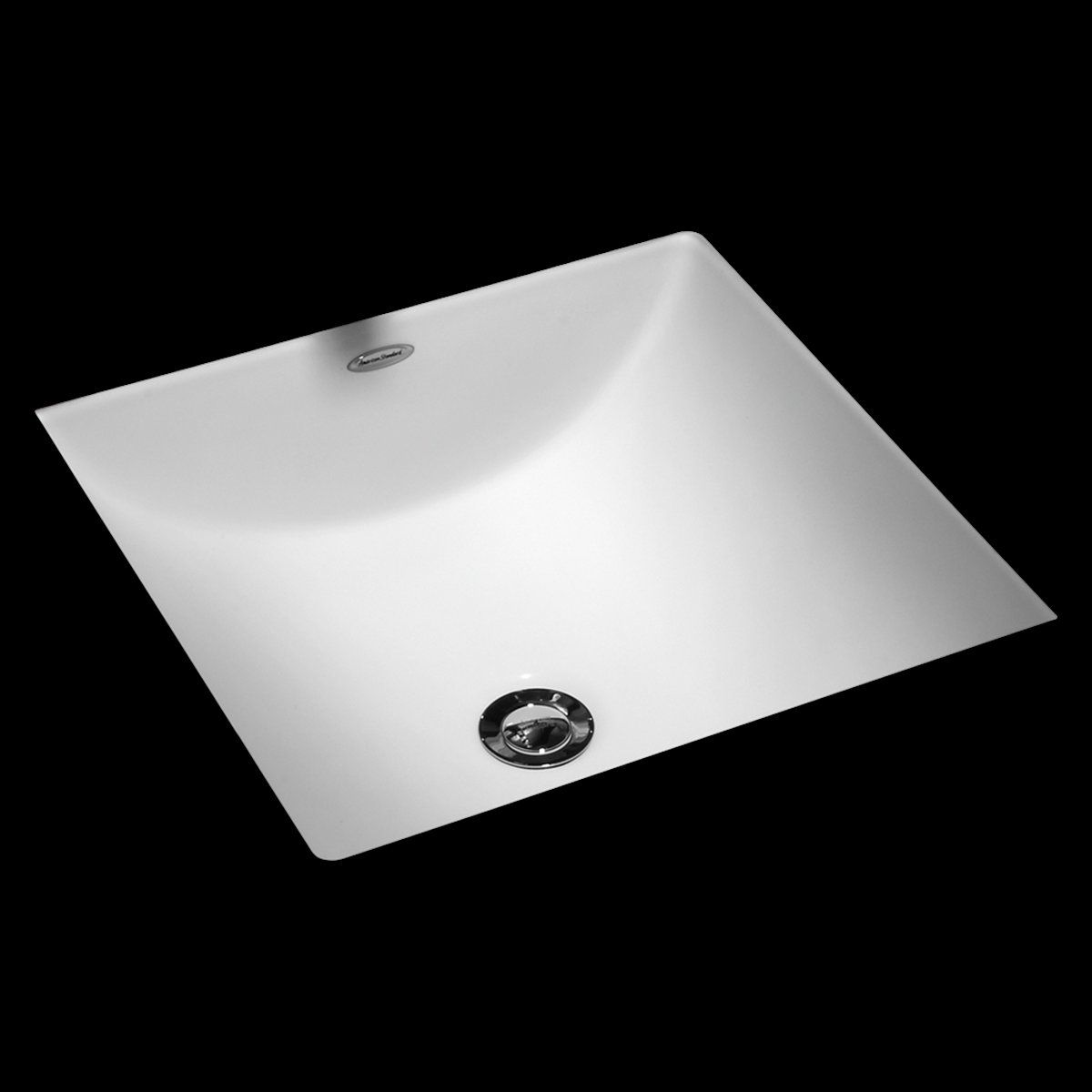 Studio Vitreous China Square Undermount Bathroom Sink With
