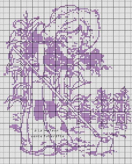 Grille gratuite sarah kay jardine le blog de 7 la maison point de croix tricot grilles - Point de croix grilles gratuites ...