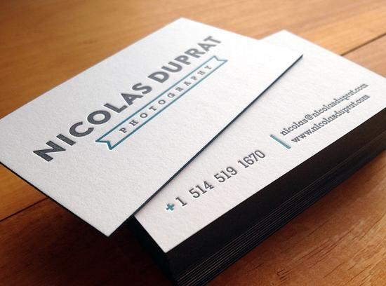Letterpress Business Card Design