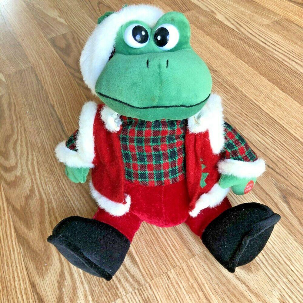 Vintage Kurt Adler Christmas Frog Jingle Bells Animated