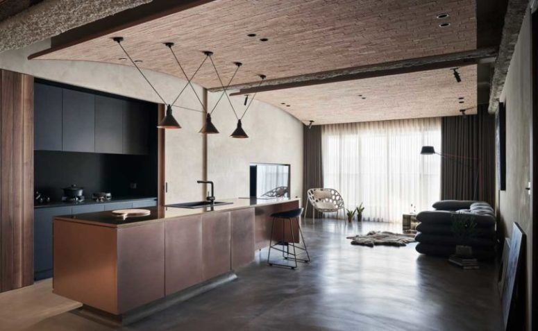Industrial Residence With Natural Touches And Textures