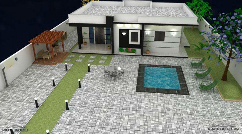 مخطط استراحه رائعه مساحة الإستراحة 134 متر مربع منinnoway Outdoor Decor House Home