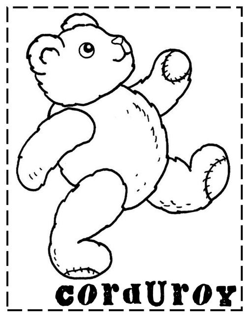 Corduroy Lapbook And Printables Bear Coloring Pages Teddy Bear