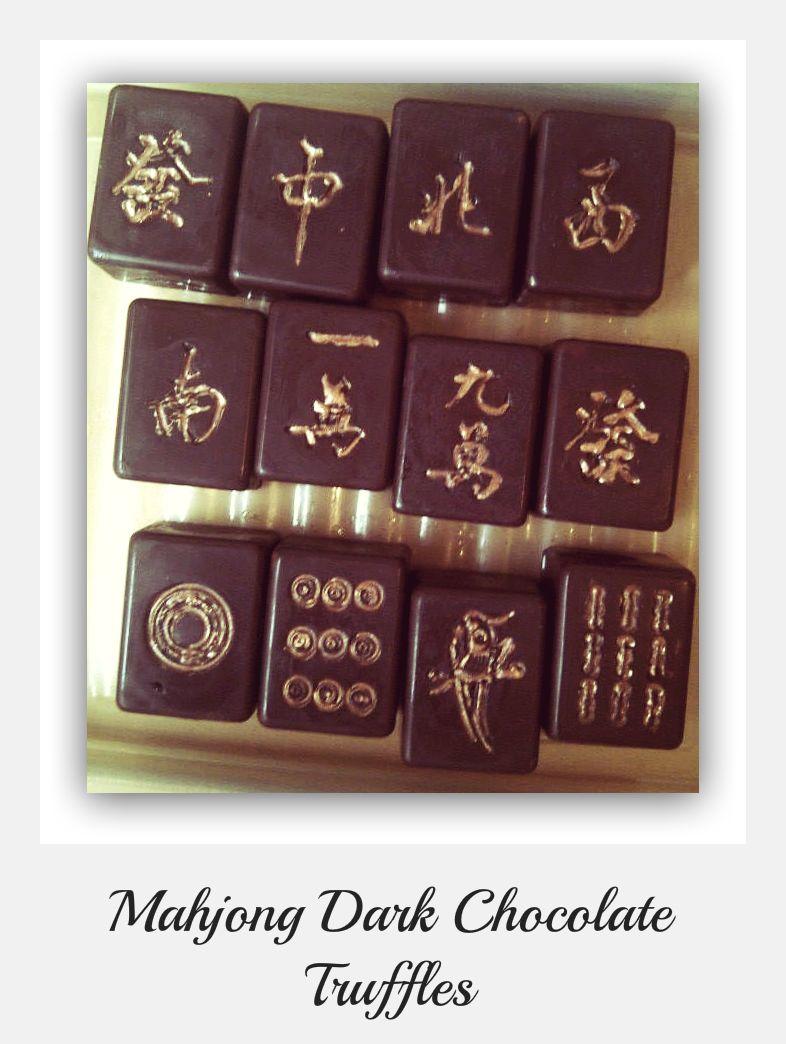 4bc40bac97183 Mahjong Dark Chocolate Truffles   Mah Jongg Food   Mahjong set ...