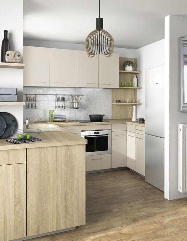 La petite cuisine a tout d\'une grande | Amenagement petite ...