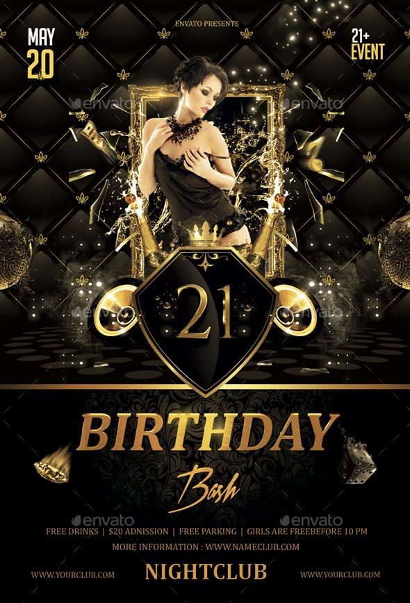 Birthday Bash Flyer | Birthday Bash, Flyer Template And Birthdays