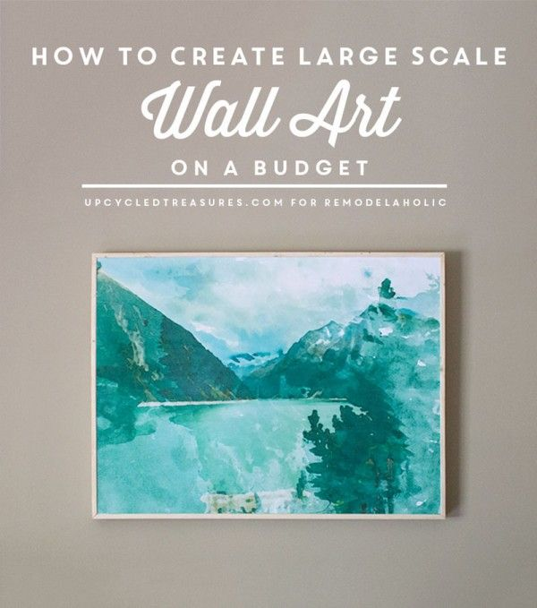 How to Create Large Scale Wall Art on a Budget (under $30!)   Real ...