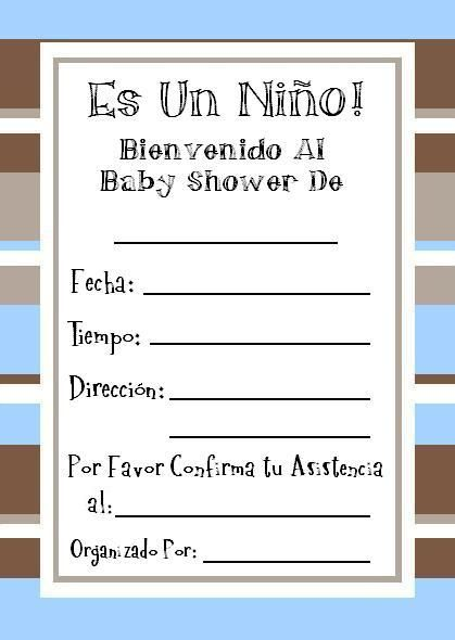 Gratis Invitaciones Baby Shower Baby Shower Invitaciones