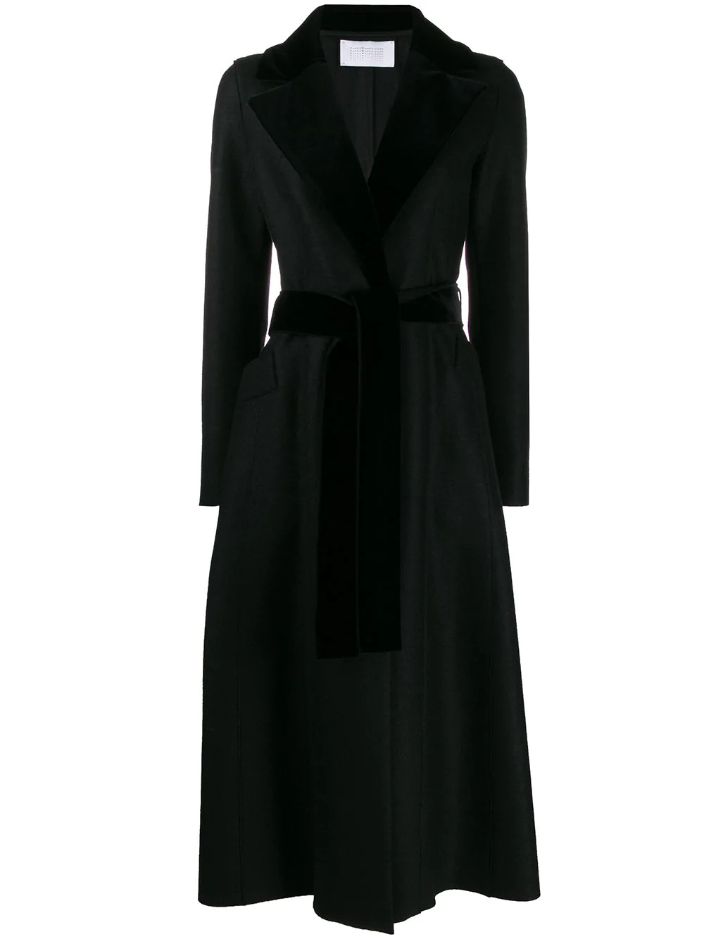 Harris Wharf London Long Belted Coat Farfetch Womens Dress Coats Coat Dress Wool Coat Women [ 1334 x 1000 Pixel ]
