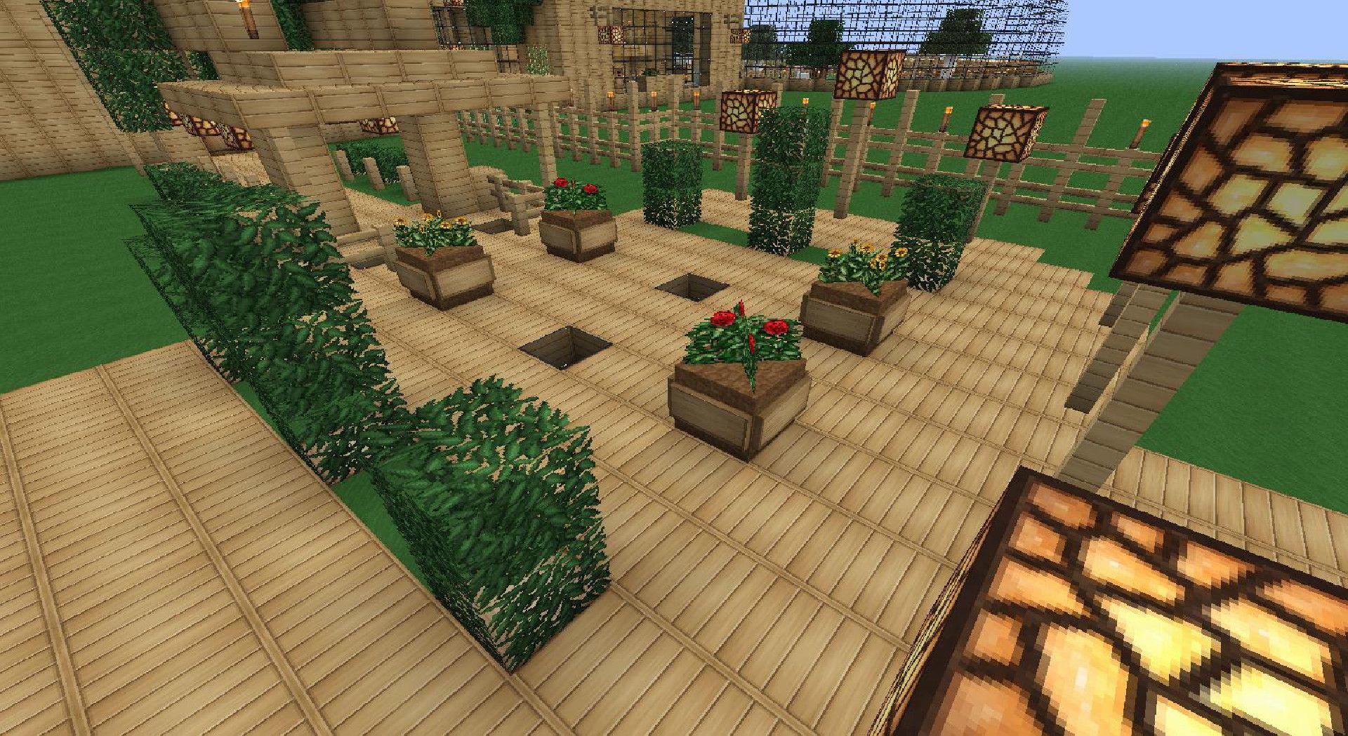 Minecraft Nice Outdoor Area Outdoor Decor Outdoor Sectional