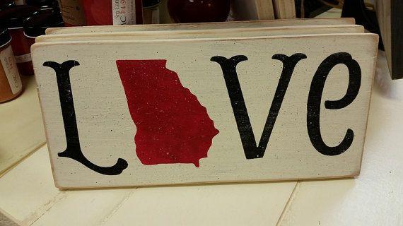 "Handmade! ""Georgia Love"" sign."