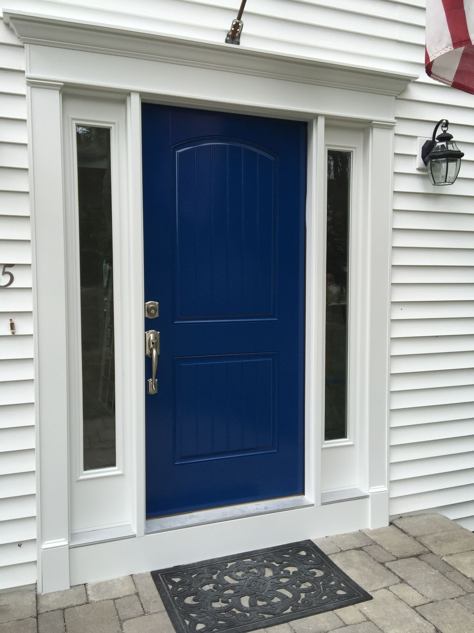 Love my new door and new color Benjamin Moore Grand Entrance Wild