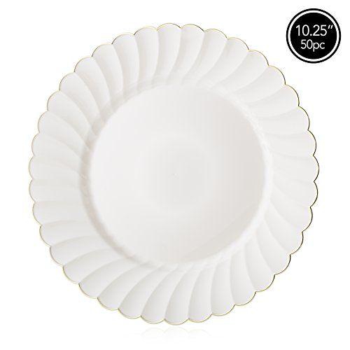 Tableware And Serveware 33161 Premium Plastic Disposable Plates