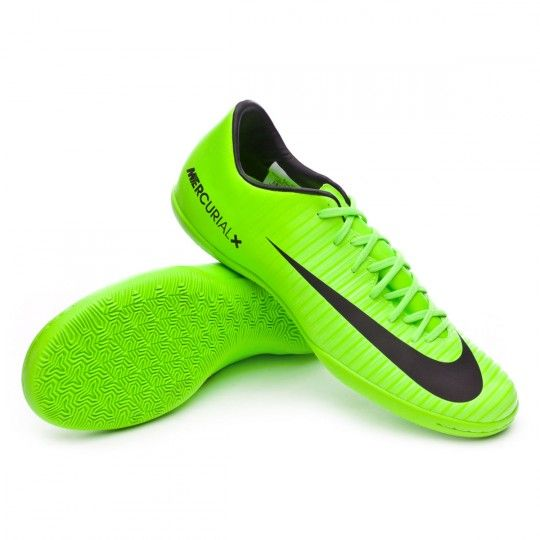 brand new 1a643 cea24 Zapatilla de fútbol sala Nike MercurialX Victory VI IC Electric  green-Black-Flash lime-White