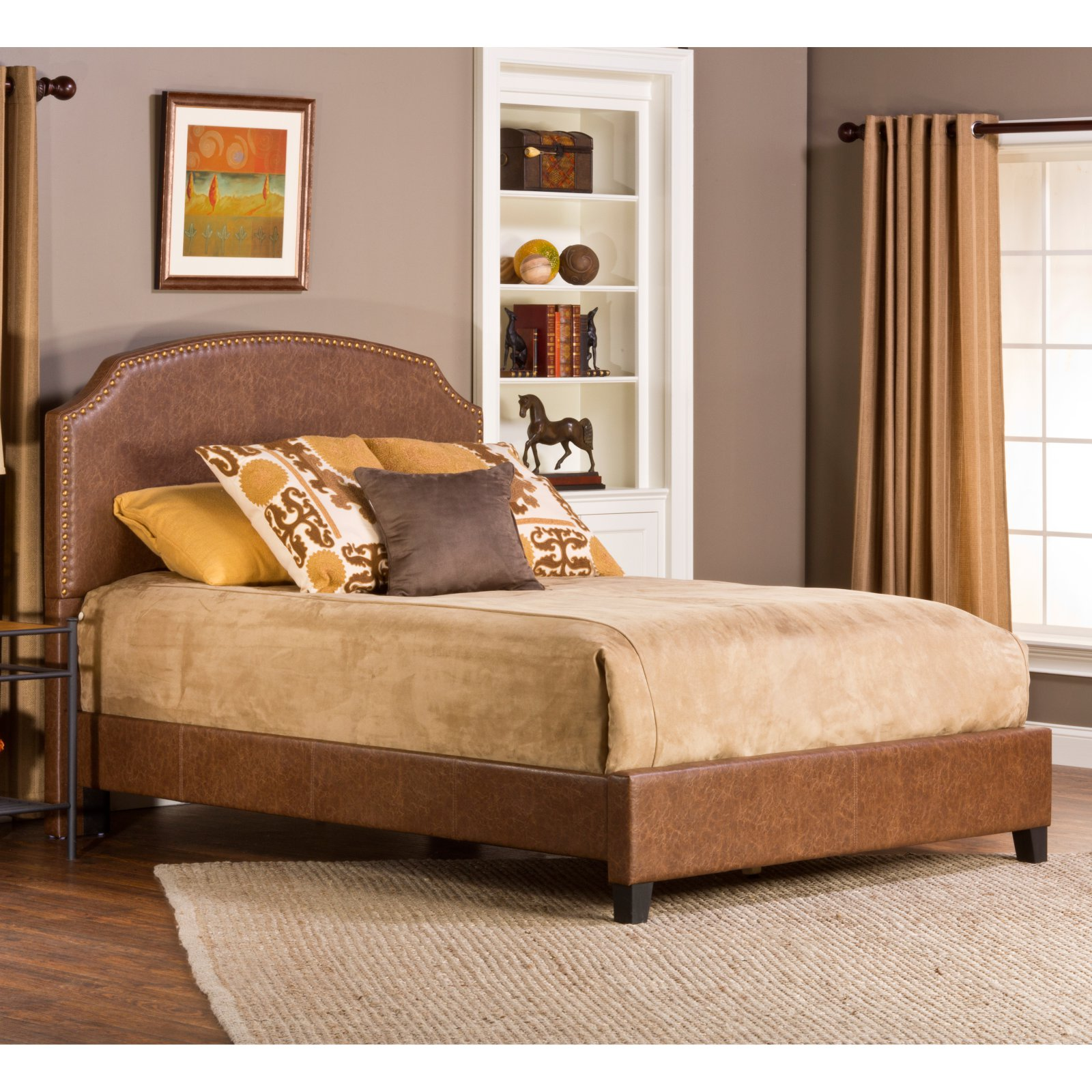 Best Hillsdale Durango Upholstered Low Profile Bed Size King 400 x 300