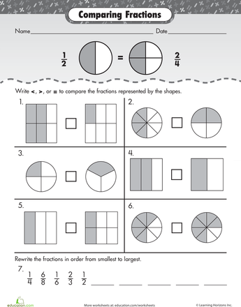 Fraction Fundamentals: Comparing Fractions | maths | Pinterest ...