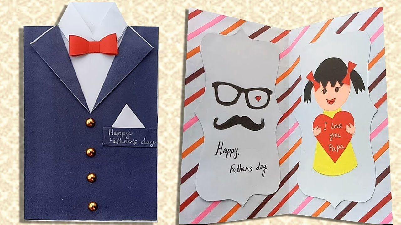 Diy Father S Day Greeting Card Ideas Handmade Father S Day Cards Youtube Father Birthday Cards Fathers Day Cards Dad Birthday Card