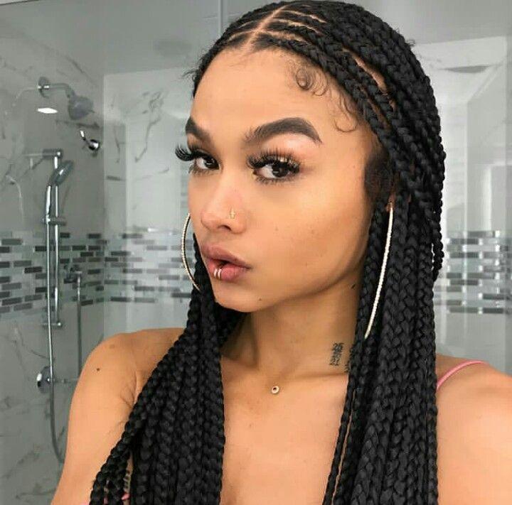 bshyene Sonia Trança em cabelo cacheado, Tranças box