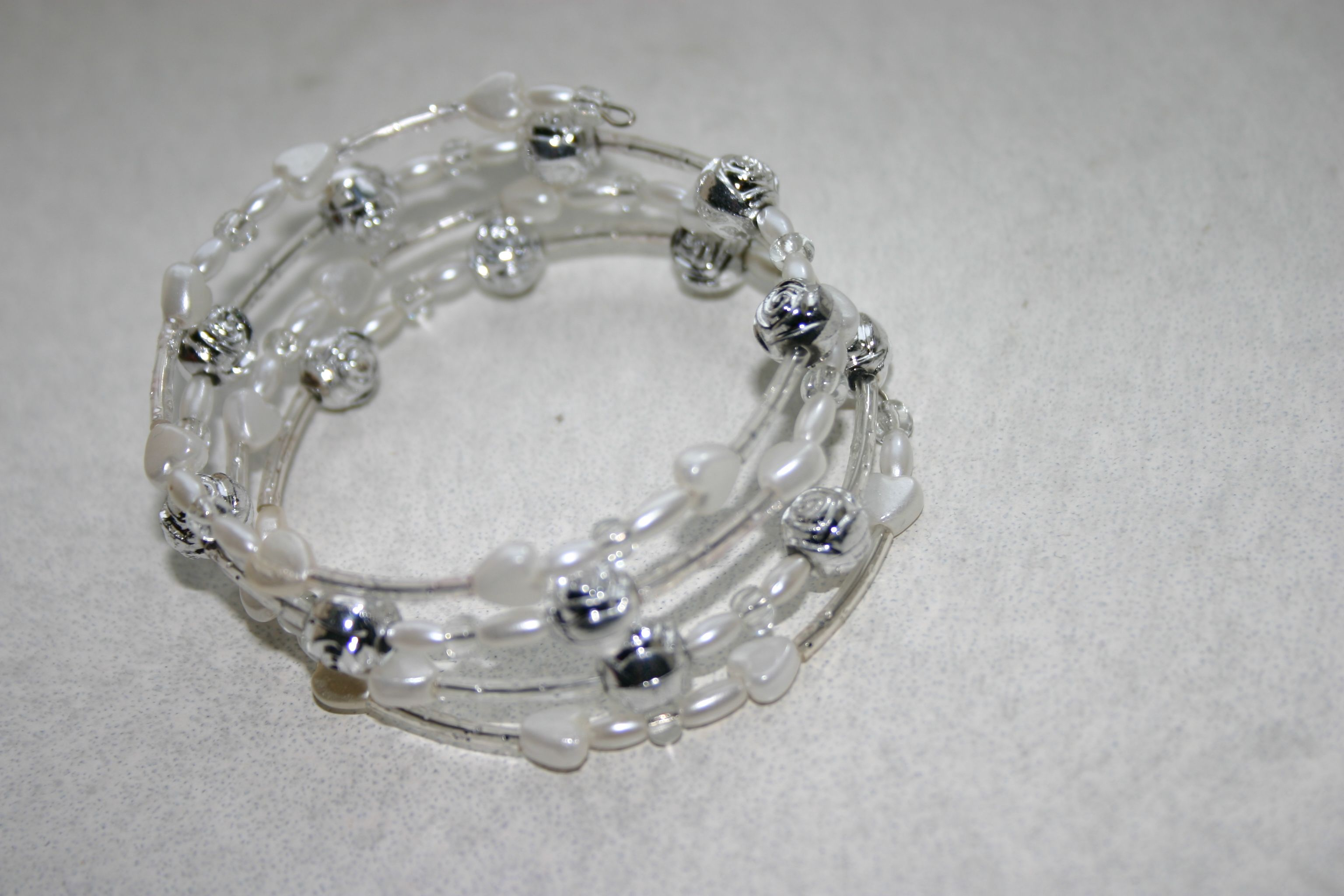 armband 3 wit/zilver