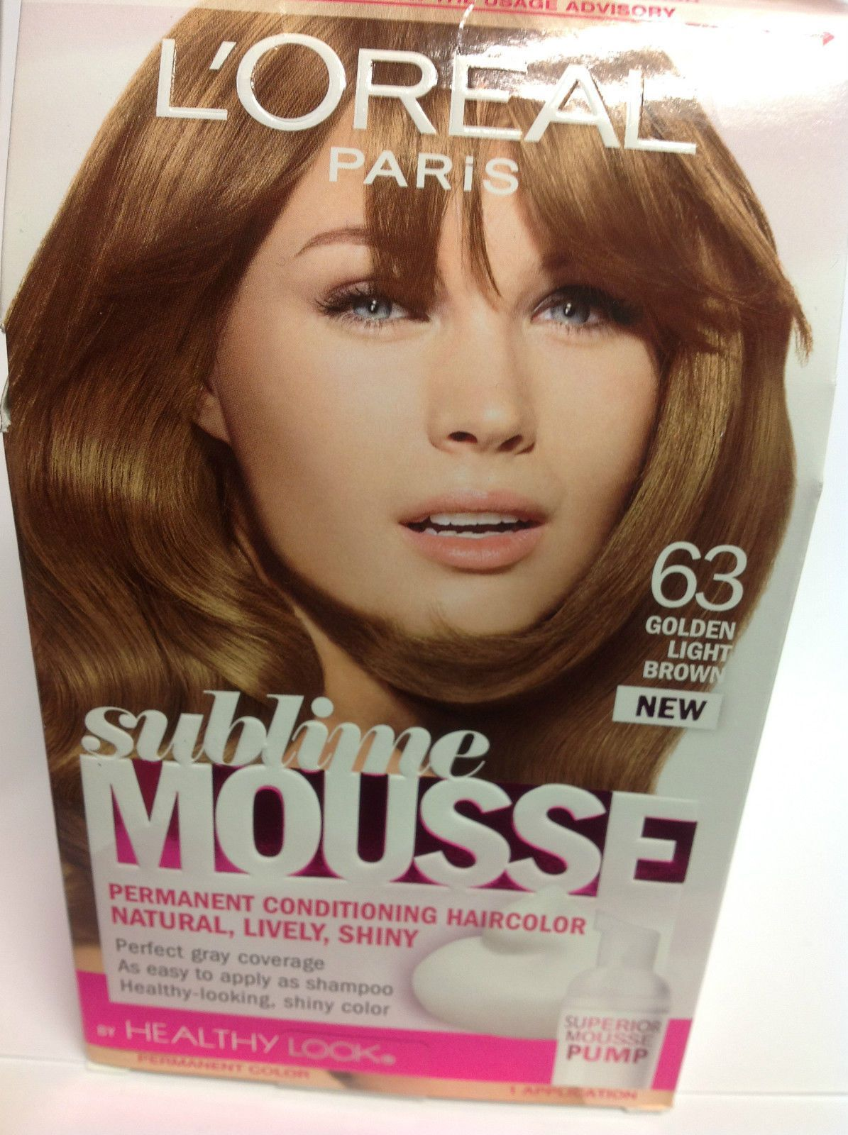 Loreal Sublime Mousse By Healthy Look Hair Color Golden Light