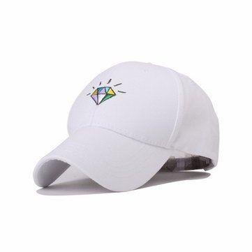 Men Women Boys Diamond Baseball Cap Adjustable Strapback Trucker Hats 0985daddc9b6