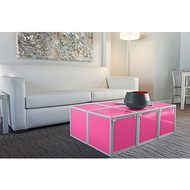 Way Basics Eco Friendly Stackable Box Storage Cubes, Pink | Bedroom ...