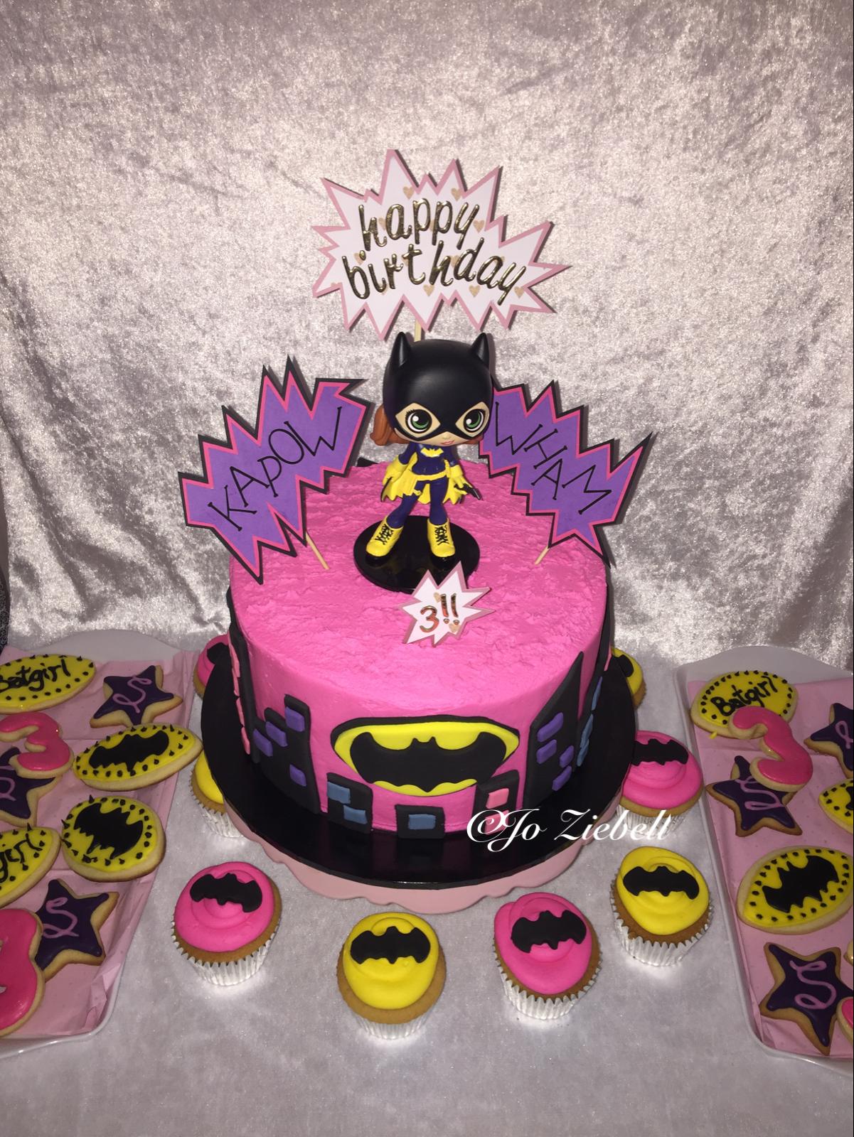 Batgirl 3rd Birthday Cake Birthday Fun Pinterest Batgirl