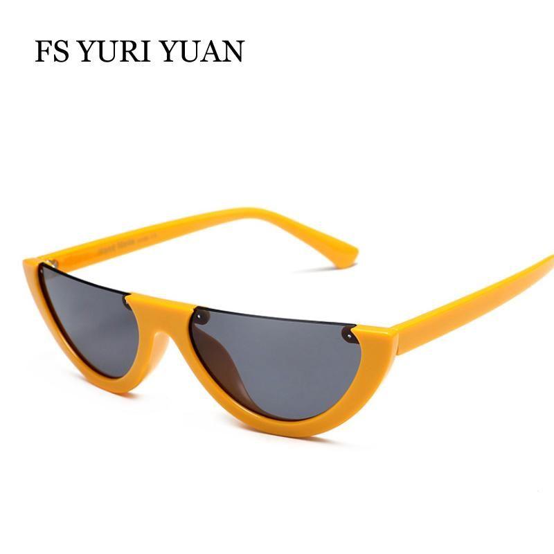 7520cf3d82b New Color Half Frame Glasses Cat Eye Semi-Rimless Women s Sunglasses  Glasses Goggles Retro Designer