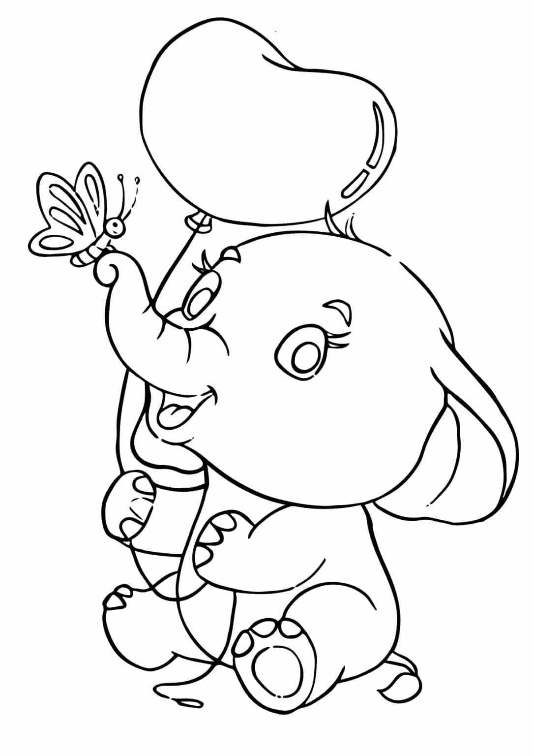 Free Easy To Print Elephant Coloring Pages In 2021 Elephant Coloring Page Coloring Pages Baby Elephant Drawing