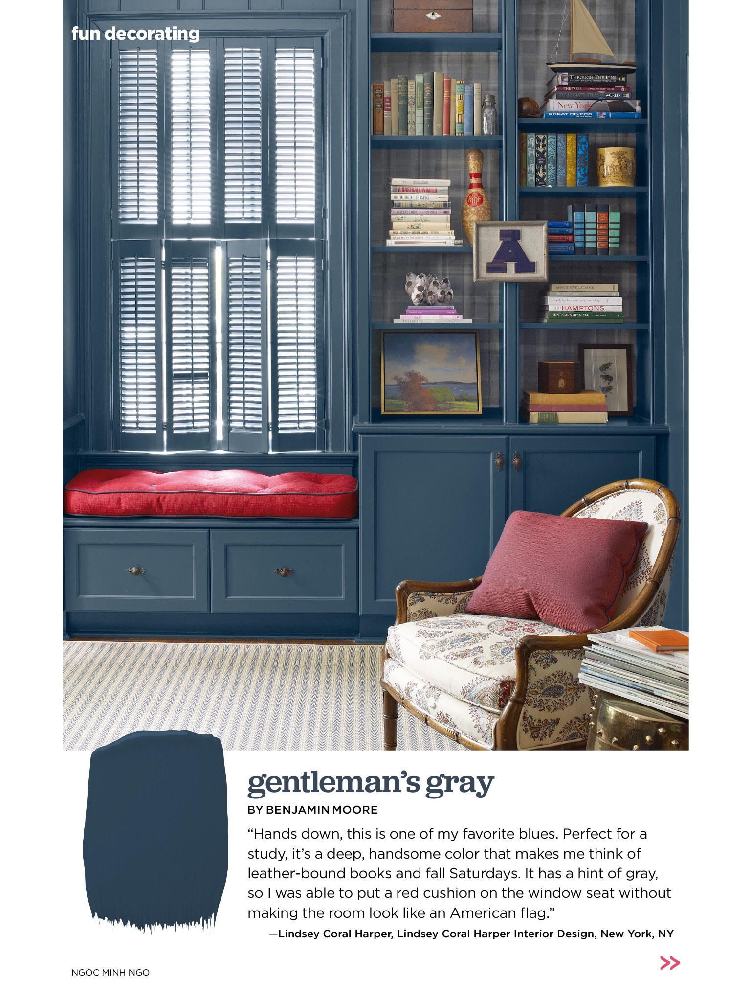 benjamin moore gentleman 39 s gray navy paint color paint. Black Bedroom Furniture Sets. Home Design Ideas