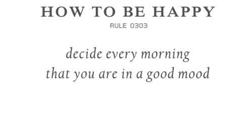 How to be happy rule 0303
