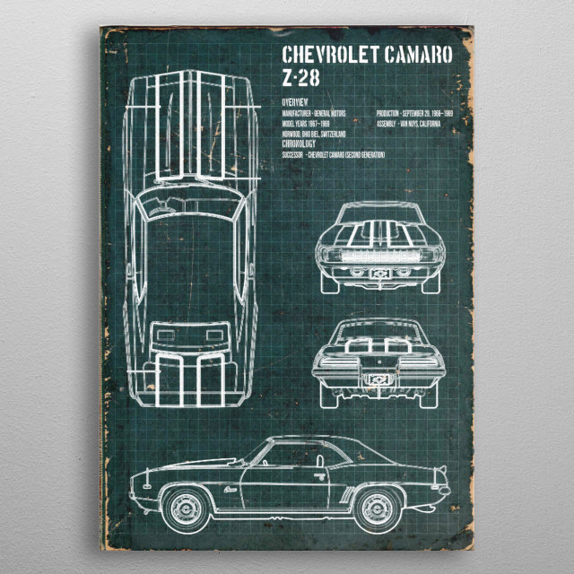 CHEVROLET CAMARO by FARKI15 DESIGN | metal posters - Displate | Displate thumbnail