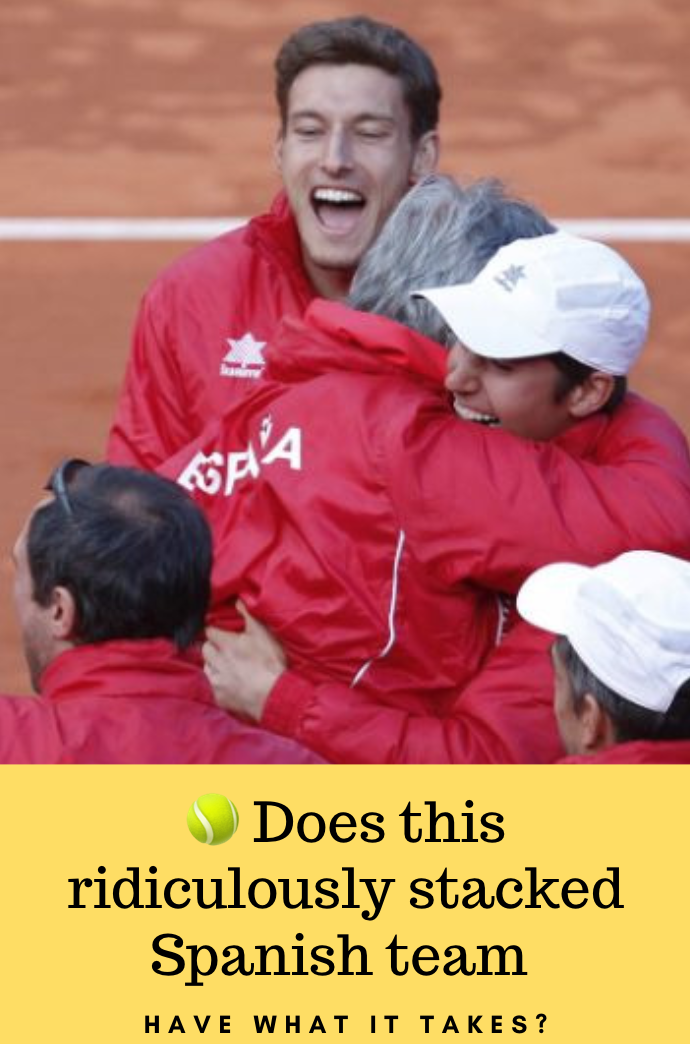 Nadal Granollers Ferrer Lopez and Captain Bruguera Does this ridiculously stacked Spanish team have what it takes to pull off a win in the Davis cup later this month