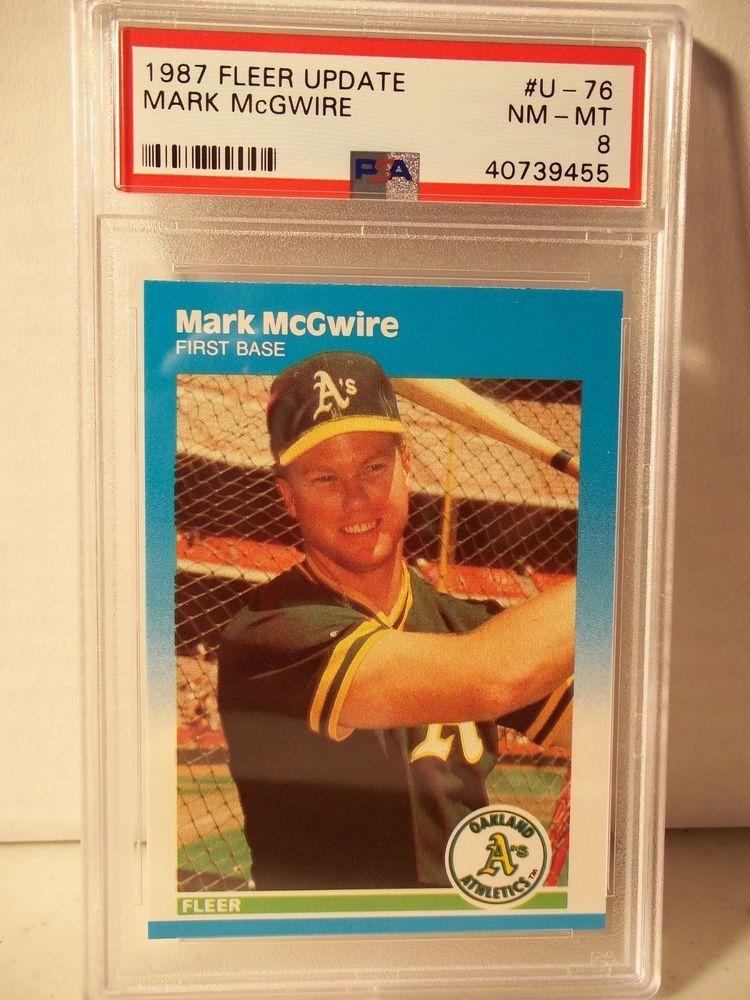 1987 fleer update mark mcgwire rc psa nmmt 8 baseball
