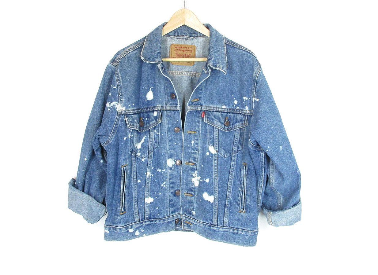 Vintage Tan Levis Jacket -- 90s Levis Denim Jacket -- Light Beige ...