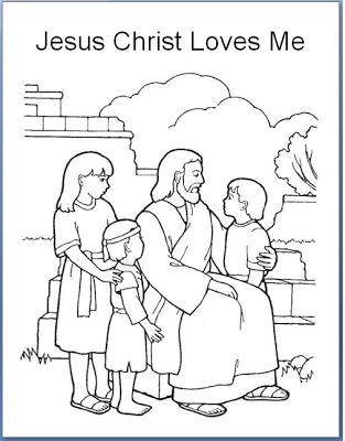 Jesus Christ Loves Each Of Us Jesus Coloring Pages Lds Coloring Pages Bible Coloring Pages