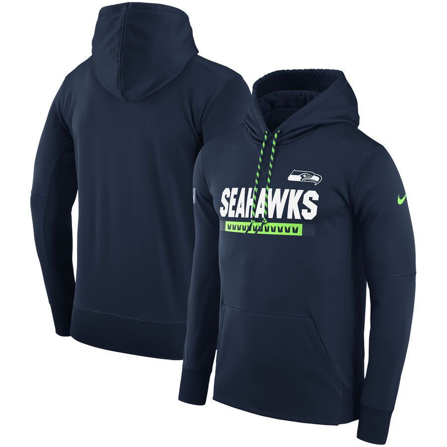 4c340e339 Nike NFL Seattle Seahawks Sideline Therma Fit Performance PO Hoodie Mens L  Navy  Nike