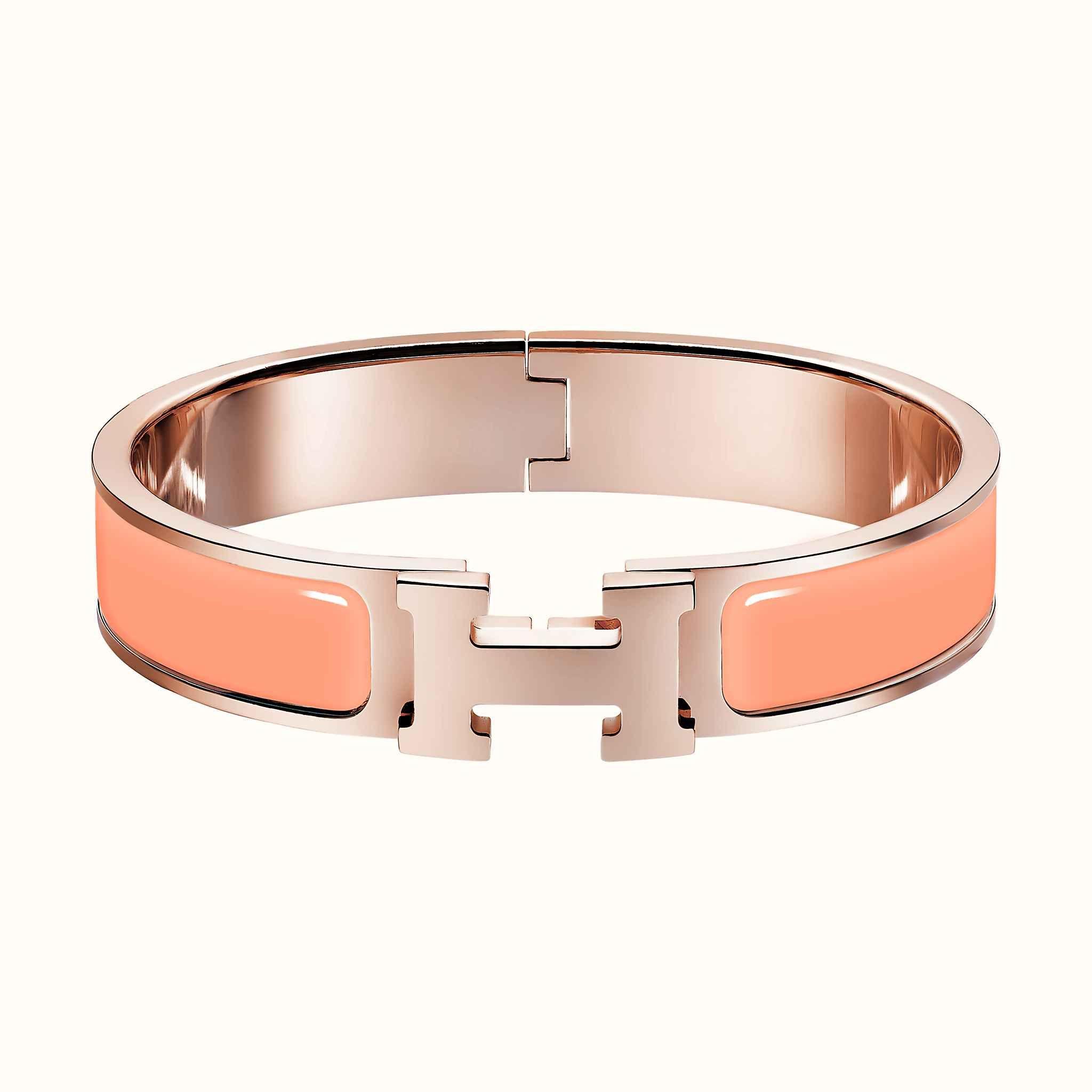 Clic H bracelet | Gold plated bracelets, Hermes jewelry, Bracelets