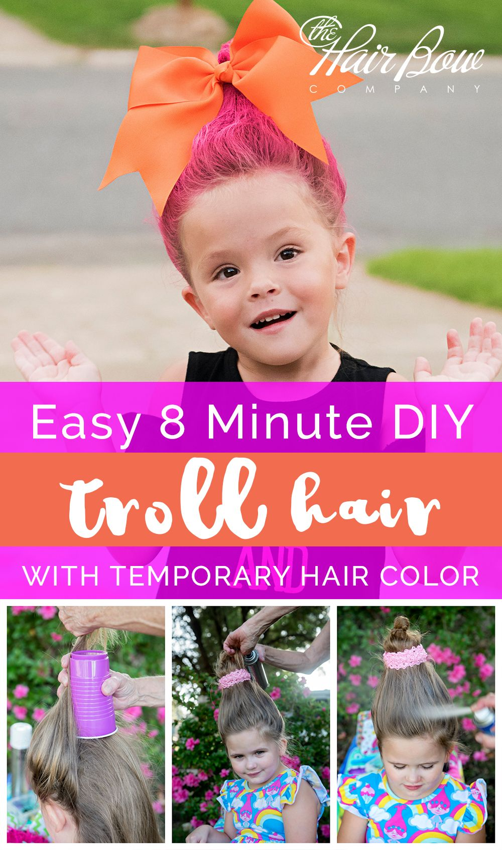 DIY Troll Hair Styles with Temporary Color