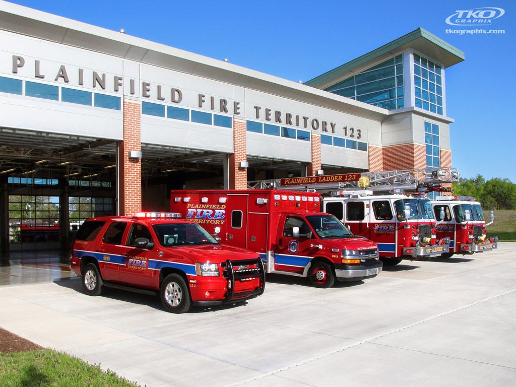Plainfield territory fire truck graphics with images
