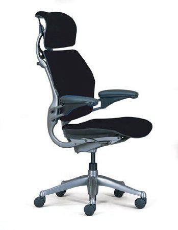 Amazon.com: HumanScale Freedom Chair with Headrest, Black Wave Fabric: Home & Kitchen