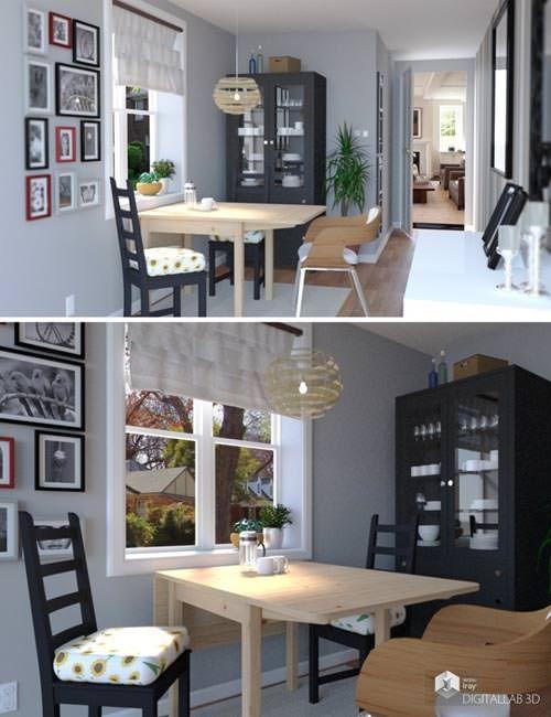 Download 3D Model Breakfast Room Free