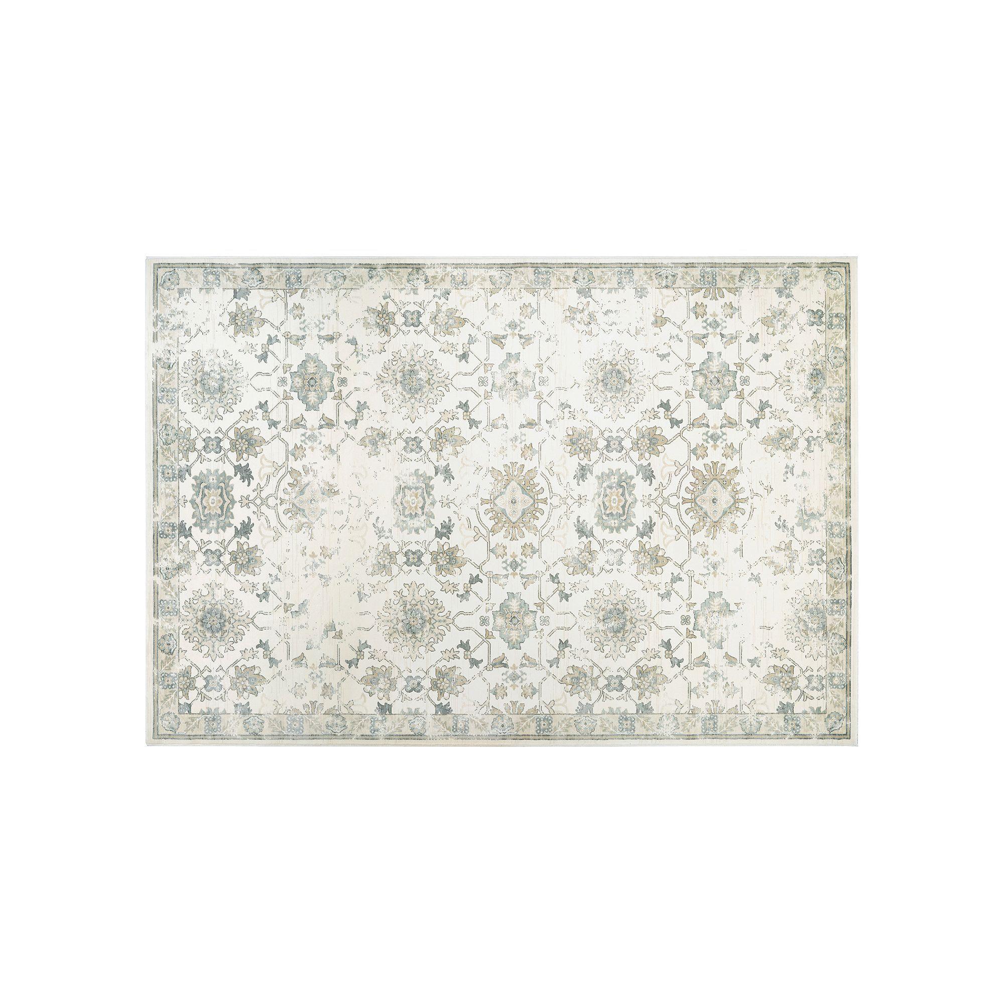Couristan Provincia Odette Framed Floral Rug, Beig/Green (Beig/Khaki)